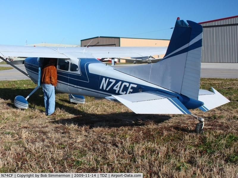 N74CF, 1974 Cessna A185F Skywagon 185 C/N 18502557, At the EAA breakfast fly-in - Toledo, Ohio.