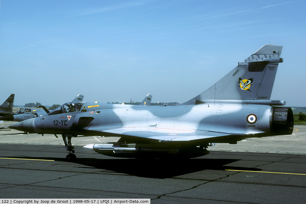 122, Dassault Mirage 2000C C/N 405, one of the aircraft that were flying during the 1998 Cambrai open house.