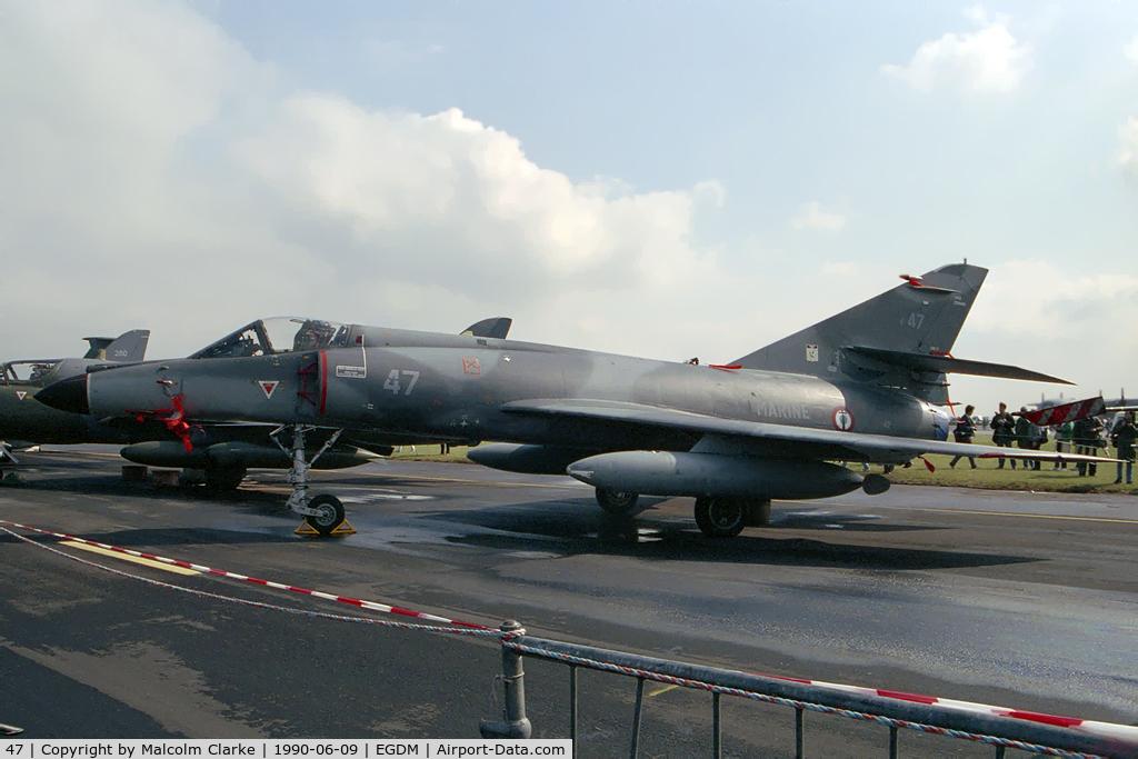 47, Dassault Super Etendard C/N 47, Dassault Super Etendard at the Battle of Britain Airshow, A&AEE, Boscombe Down in 1990.