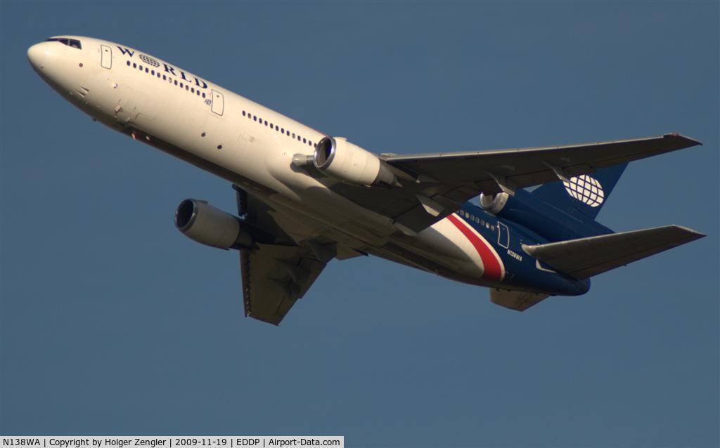 N138WA, 1981 McDonnell Douglas DC-10-30 C/N 47845, Up into a blue November sky