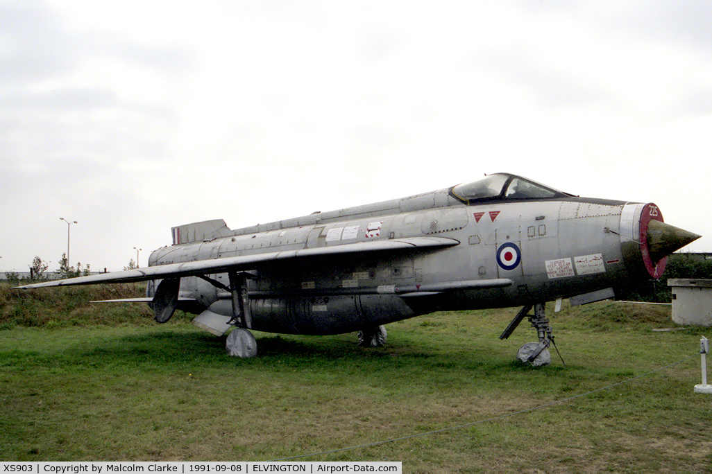 XS903, English Electric Lightning F.6 C/N 95249, English Electric Lightning F6 at the Yorkshire Air Museum, Elvington, UK.