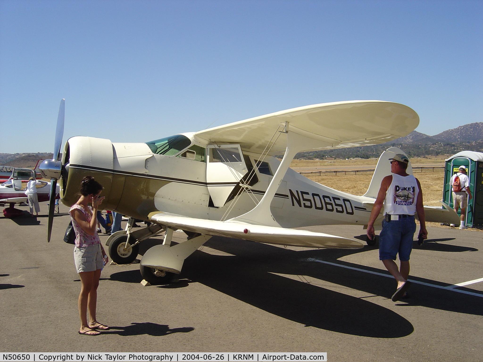 N50650, 1937 Beech E17B C/N 143, Ramona Air Fair 04'