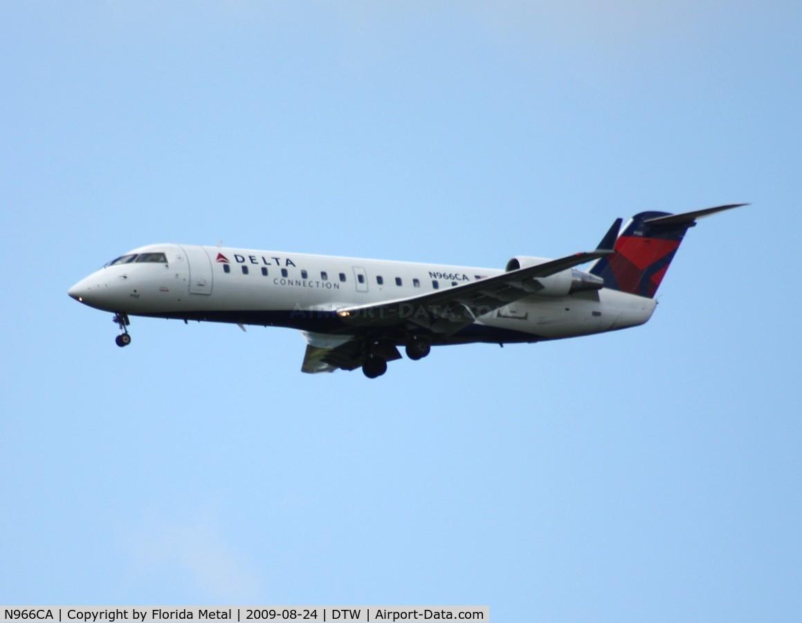 N966CA, 1996 Canadair CRJ-100ER (CL-600-2B19) C/N 7132, Comair CRJ-100