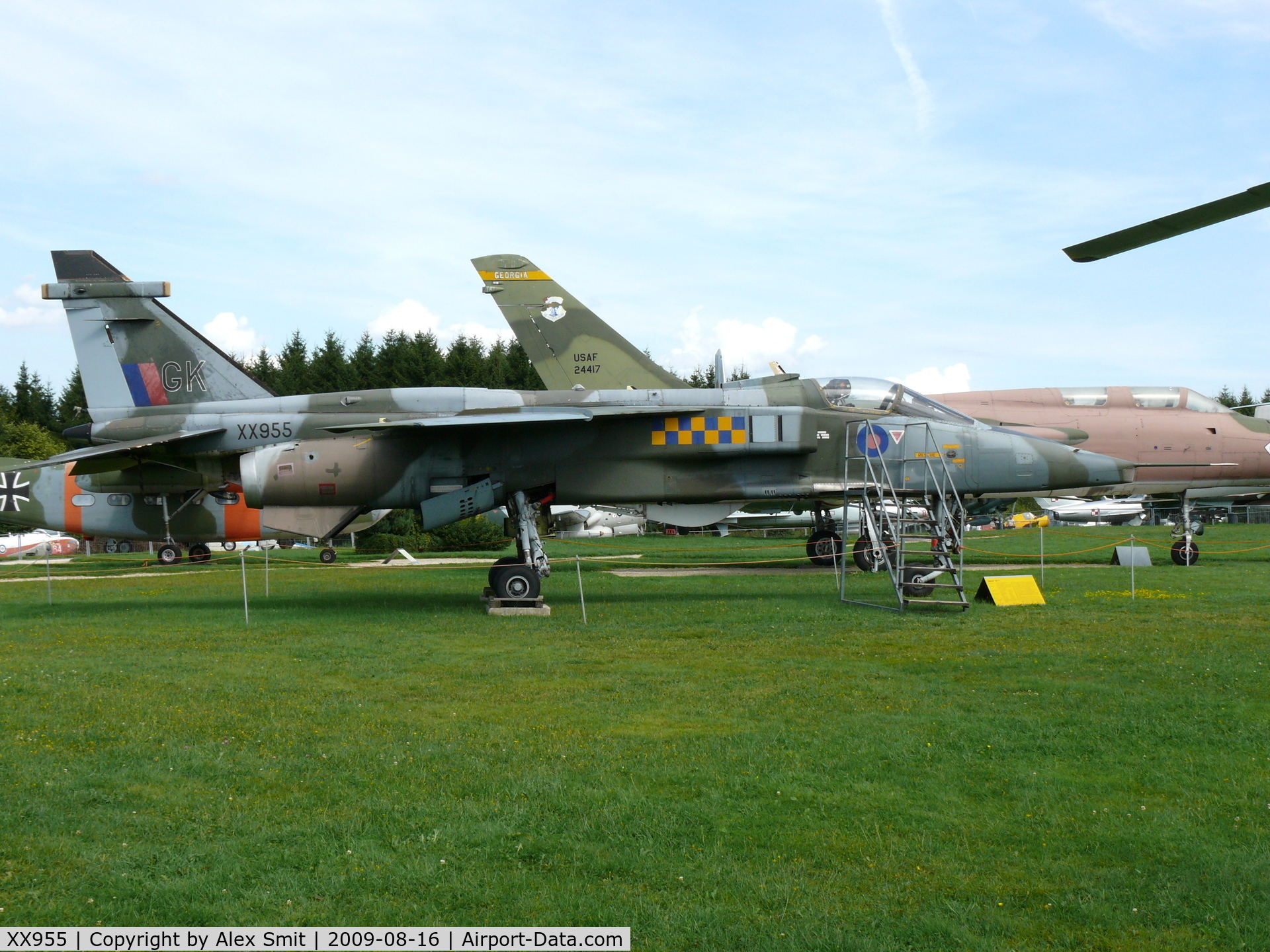 XX955, 1975 Sepecat Jaguar GR.1A C/N S.77, Sepecat Jaguar Gr1A  XX955_GK Royal Air Force in the Hermerskeil Museum Flugausstellung Junior