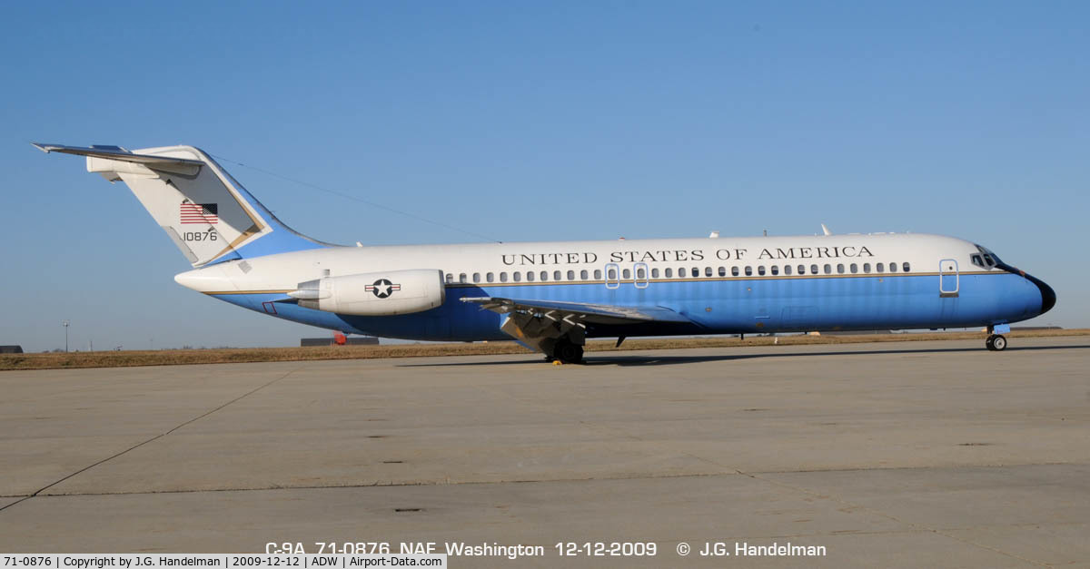 71-0876, McDonnell Douglas C-9A Nightingale C/N 47475, At NAF Washington Andrews AFB Maryland