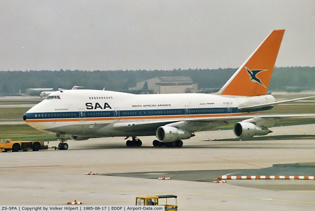 ZS-SPA, 1976 Boeing 747SP-44 C/N 21132, picture scan