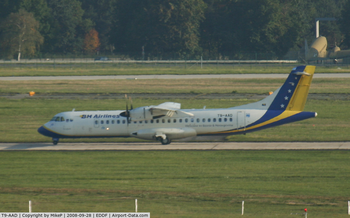 T9-AAD, 1995 ATR 72-212 C/N 464, Poor shot thru multiple layers of glass !