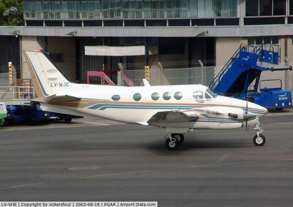 LV-WJE, Beech C90B King Air C/N LJ-1354, Private. King Air C90B.