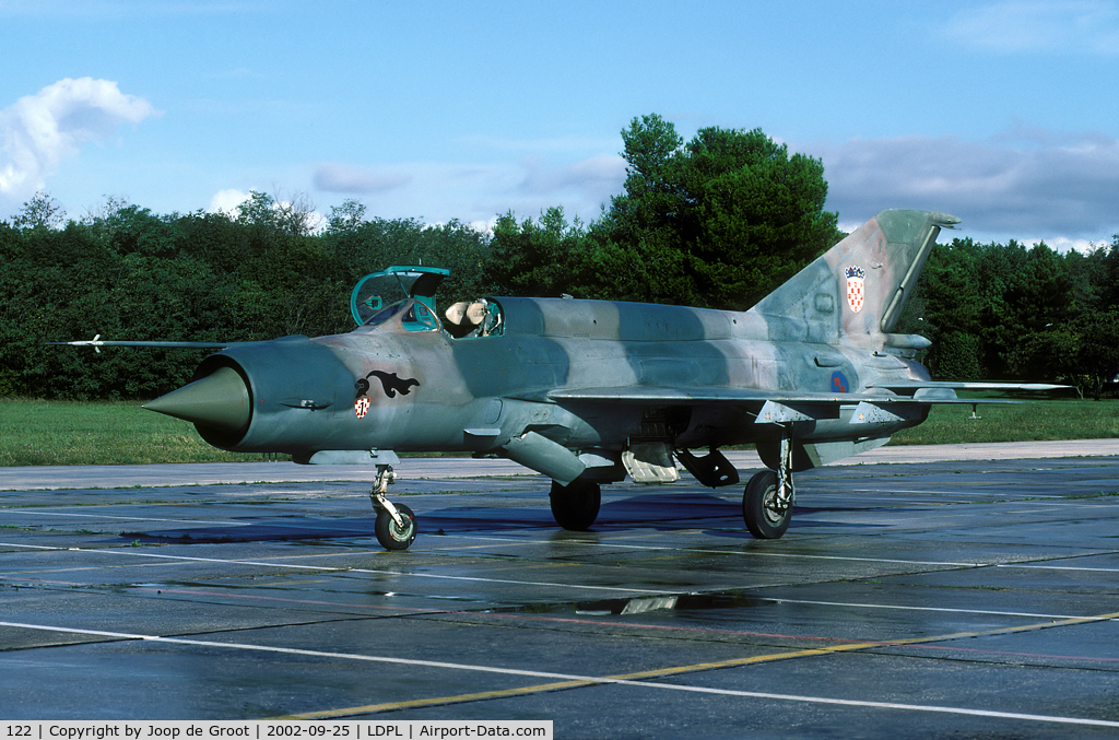 122, Mikoyan-Gurevich MiG-21bis C/N 75001122, After the rain cleared we were finally able to take the shotes we had been traveling for.