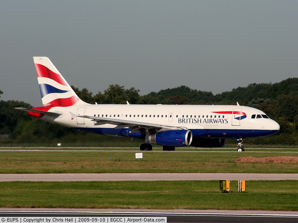 G-EUPS, 2000 Airbus A319-131 C/N 1338, British Airways