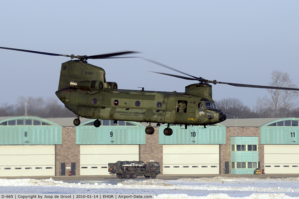 D-665, Boeing CH-47D Chinook C/N M.3665/NL-005, Chinook of the Dutch air force training in cold and low conditions.