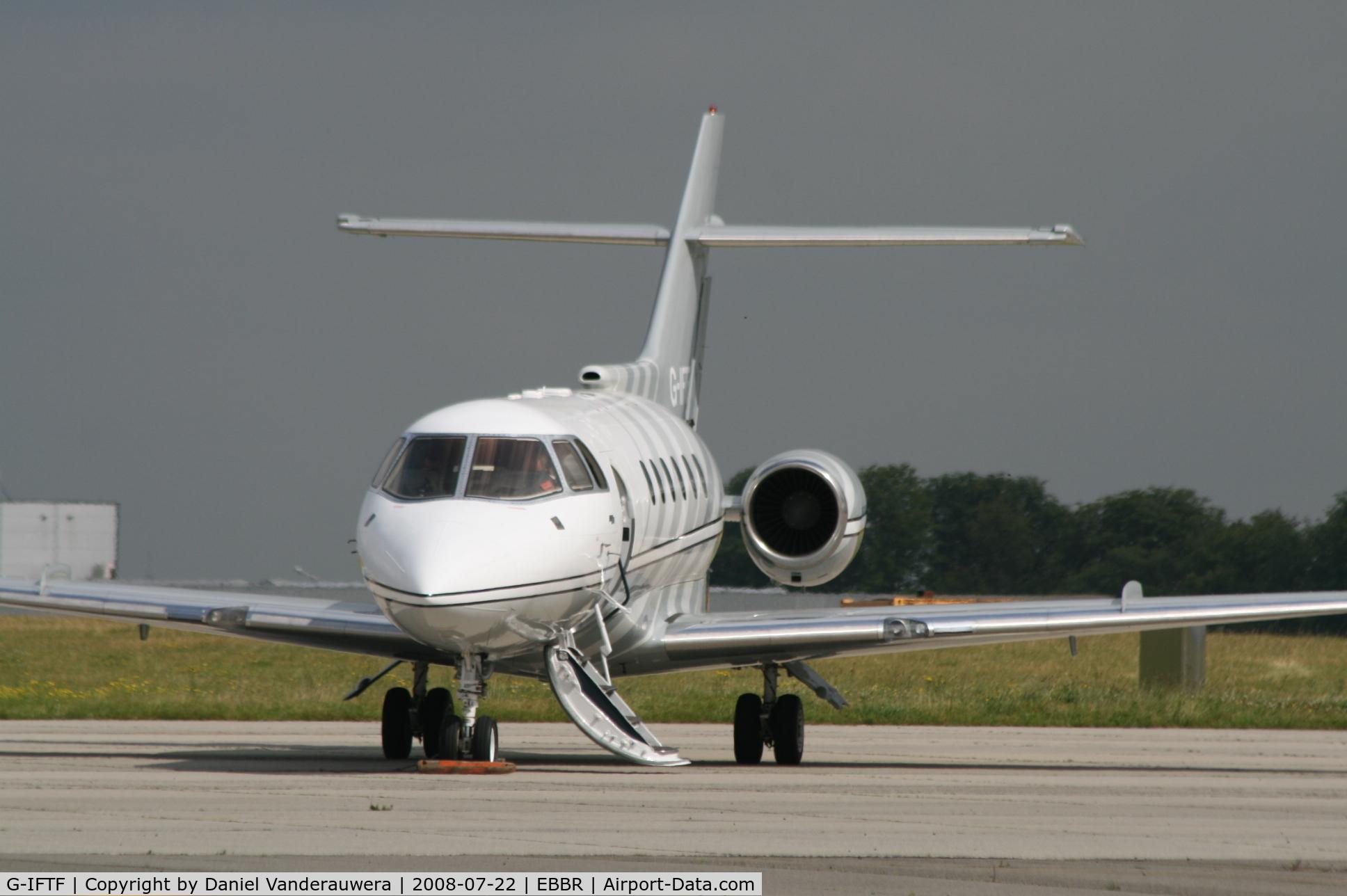 G-IFTF, 1985 British Aerospace BAe.125-800B C/N 258021, Parked on G.A. apron