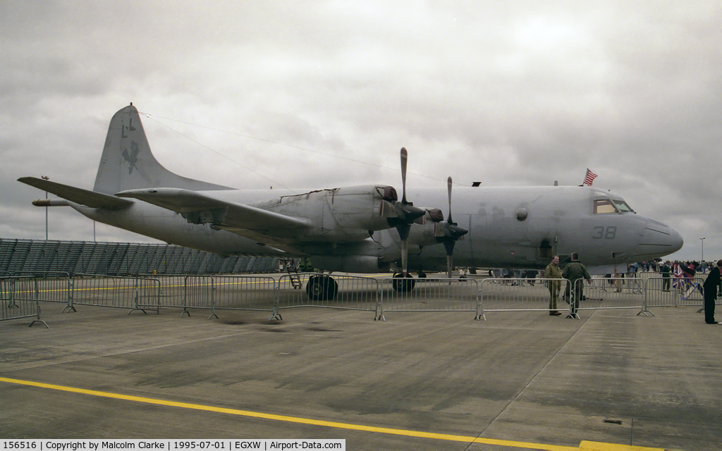156516, Lockheed P-3C Orion C/N 285A-5510, Lockheed P-3C Orion at RAF Waddington's Air Show in 1995.