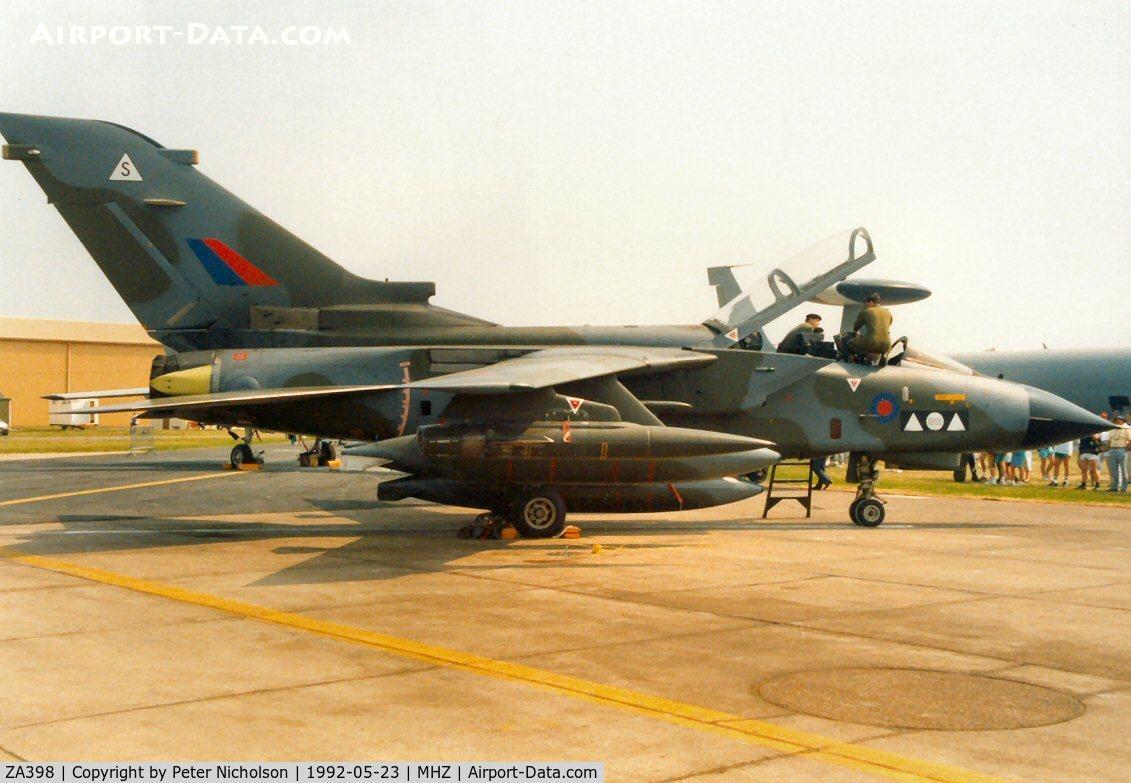 ZA398, 1982 Panavia Tornado GR.1A C/N 199/BS065/3097, Tornado GR.1A of 2 Squadron at RAF Marham on display at the 1992 Mildenhall Air Fete.