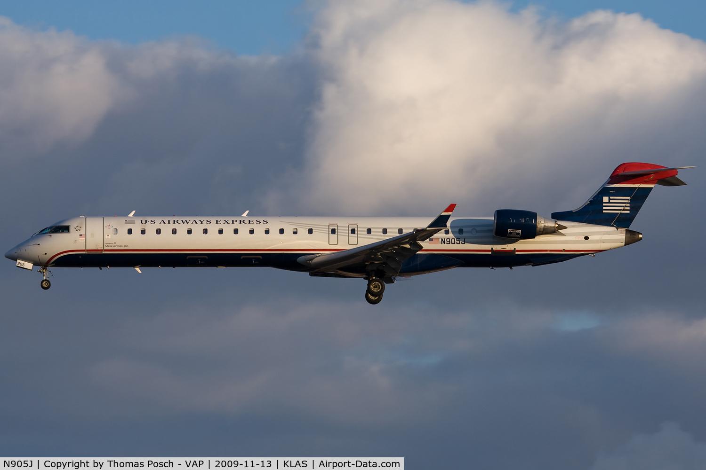 N905J, 2003 Bombardier CRJ-900 (CL-600-2D24) C/N 15005, US Airways Express