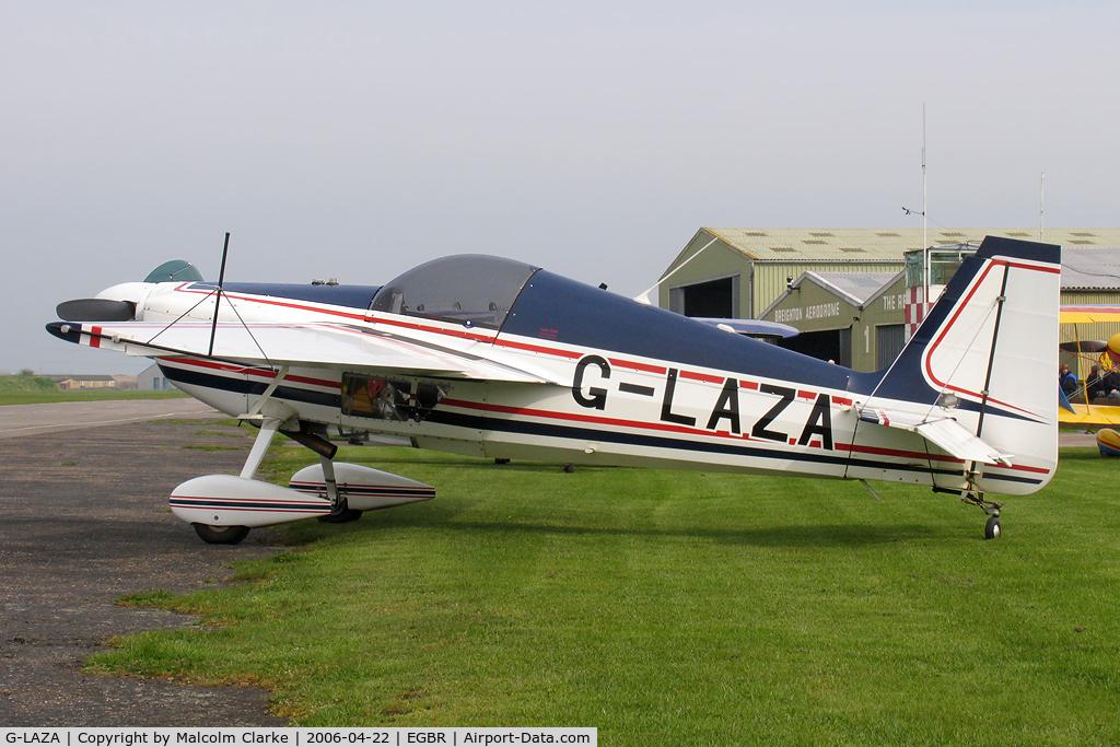 G-LAZA, 1996 Stephens Akro Laser Z200 C/N PFA 123-12682, Hammond Lazer Z200 at Breighton Airfield in 12006.
