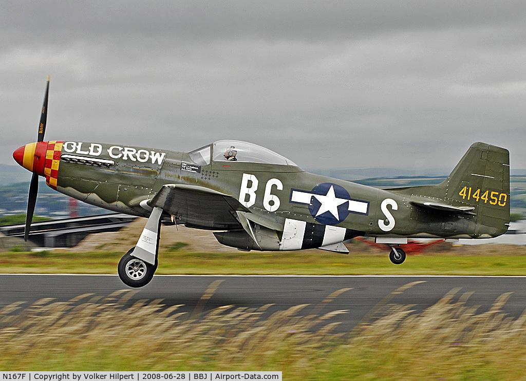 N167F, 1944 North American P-51D Mustang C/N 122-40417, old crow
