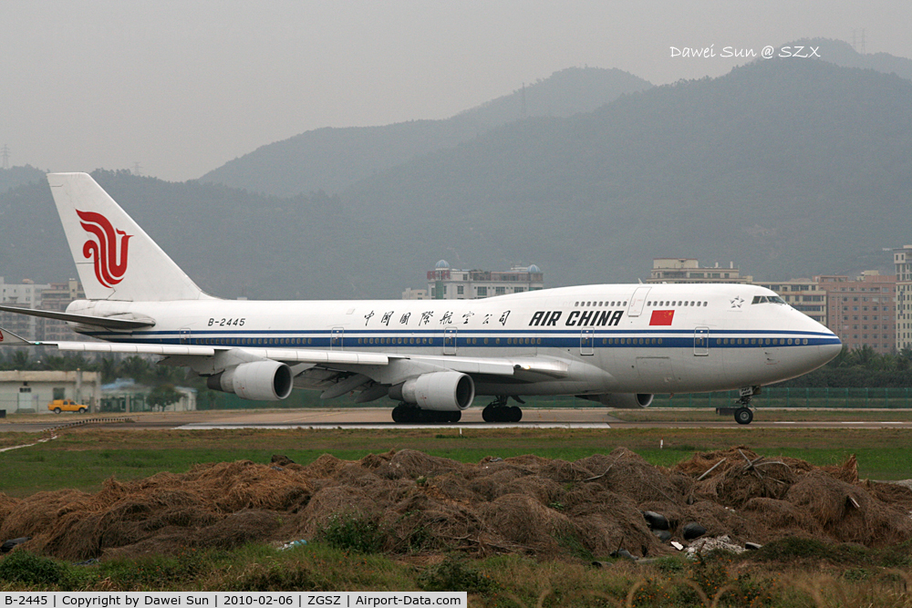 B-2445, Boeing 747-4J6 C/N 25882, Air China