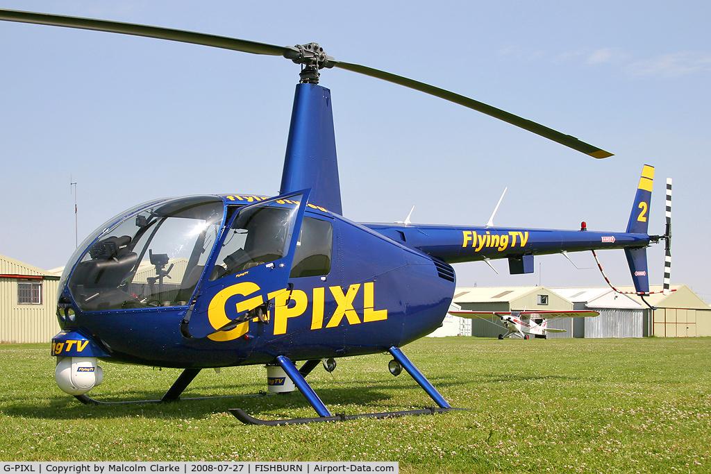 G-PIXL, 2006 Robinson R44 Raven II C/N 11221, Robinson R-44 Raven II at Fishburn Airfield in 2008.