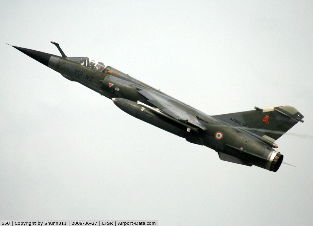650, Dassault Mirage F.1CR C/N 50, Demo flight during LFSR Airshow 2009