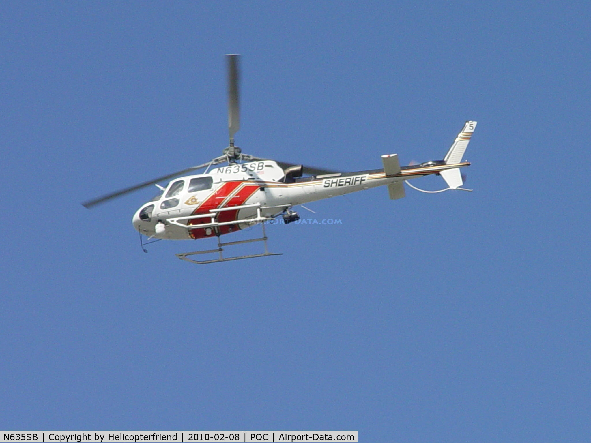 N635SB, 2006 Eurocopter AS-350B-3 Ecureuil C/N 4014, Westerly bound from Brackett