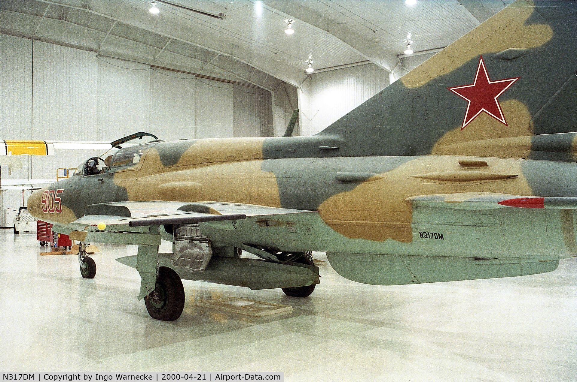 N317DM, 1974 Mikoyan-Gurevich MiG-21UM Lancer B C/N 516913056, Mikoyan i Gurevich MiG-21UM MONGOL at the Polar Aviation Museum, Blaine MN