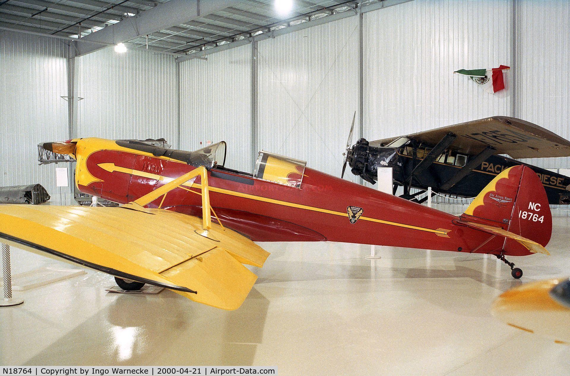 N18764, 1938 Arrow Sport M C/N 105, Arrow Sport M at the Golden Wings Flying Museum, Blaine MN