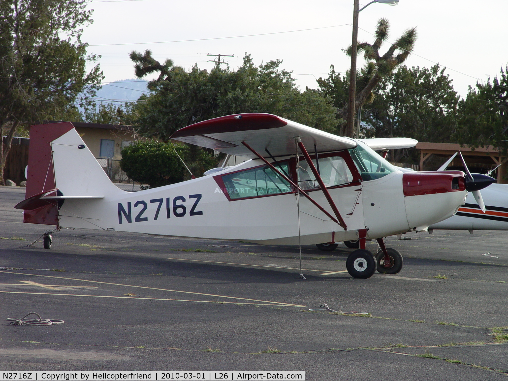 N2716Z, 1978 Bellanca 7GCAA C/N 354-78, Parked at Hesperia Airport