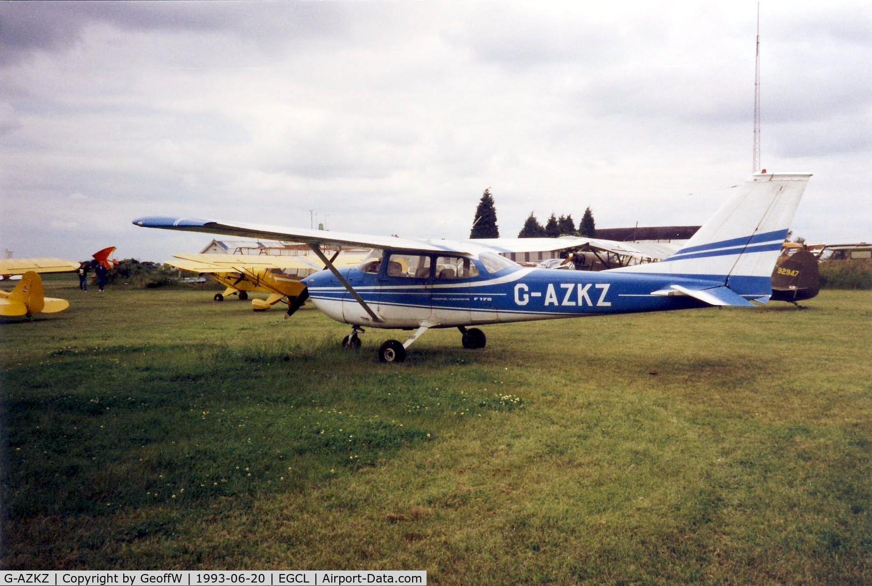 G-AZKZ, 1972 Reims F172L Skyhawk C/N 0814, Taken at a Vintage Piper Fly-in