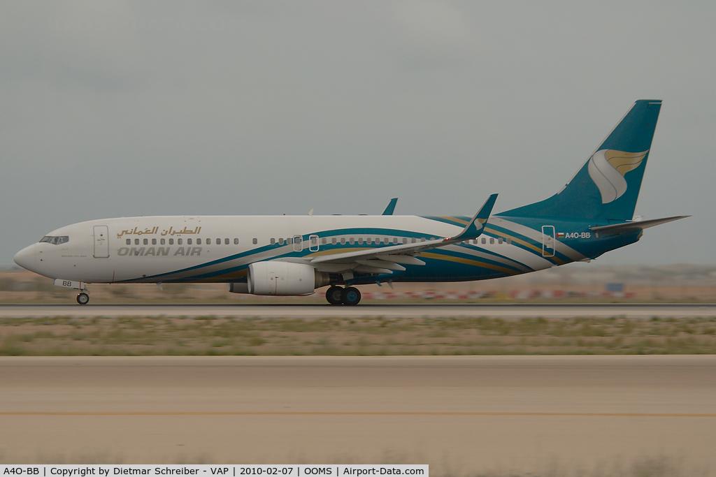A4O-BB, 2007 Boeing 737-81M C/N 30721, Oman Air Boeing 737-800