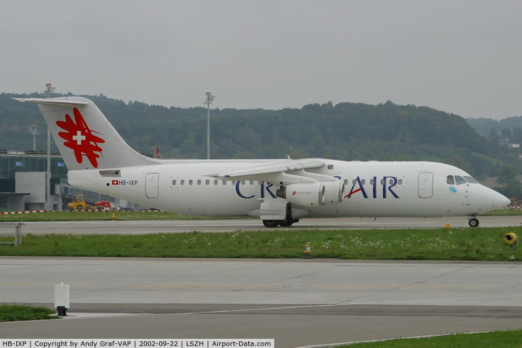 HB-IXP, 1996 British Aerospace Avro 146-RJ100 C/N E3283, Crossair Bae146
