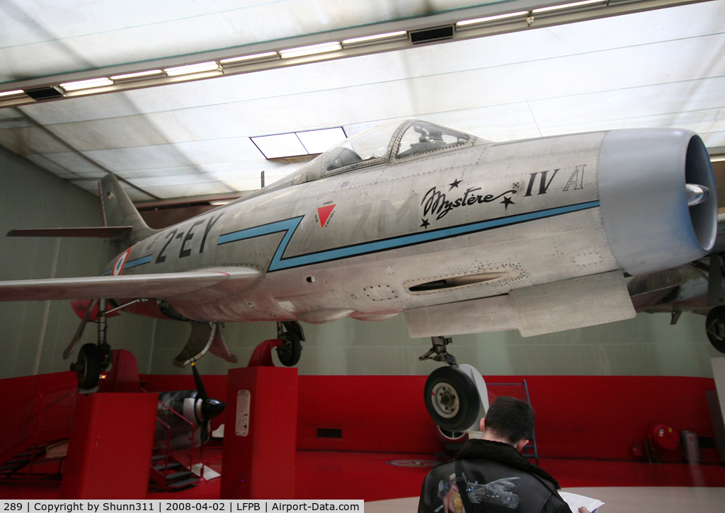 289, Dassault MD-454 Mystere IVA C/N 105, Preserved @ Le Bourget Museum