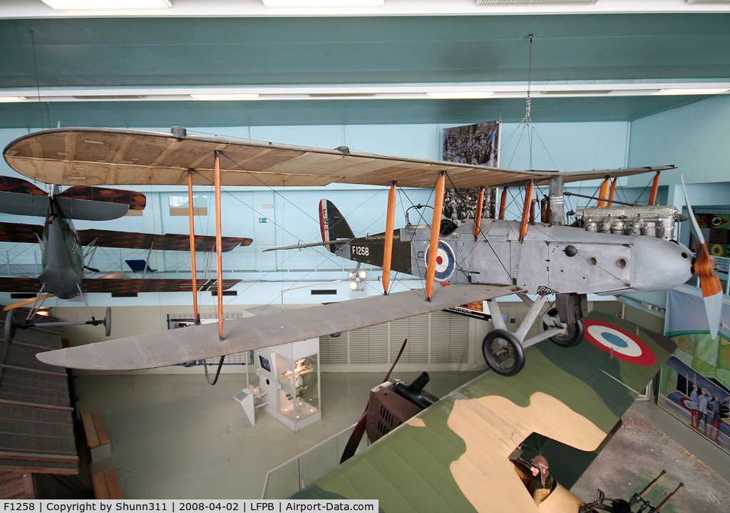 F1258, De Havilland DH-9 C/N Not found F1258, De Havilland DH.9 preserved @ Le Bourget Museum