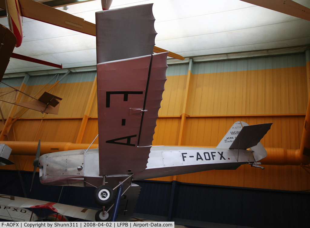 F-AOFX, Caudron C.277R Luciole C/N 7156/14, Preserved @ Le Bourget Museum