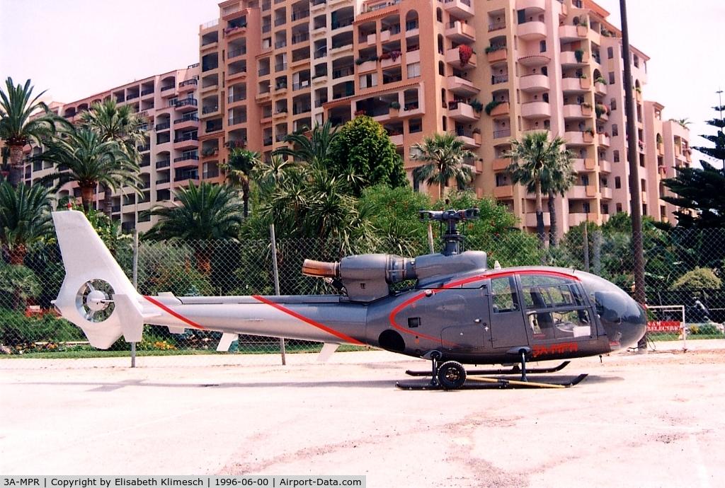 3A-MPR, Aerospatiale SA-341G Gazelle C/N 1225, at Monaco - Espace Fontvieille