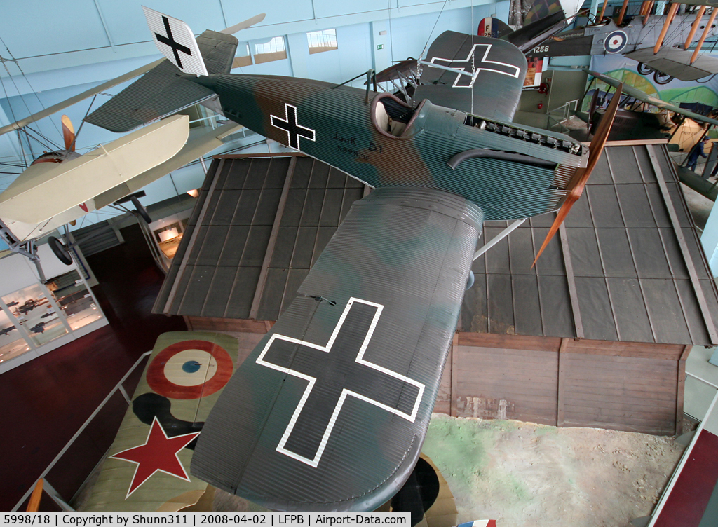 5998/18, 1918 Junkers J-9 (D-1) C/N Not found 5998/18, Junkers J9 preserved @ Le Bourget Museum
