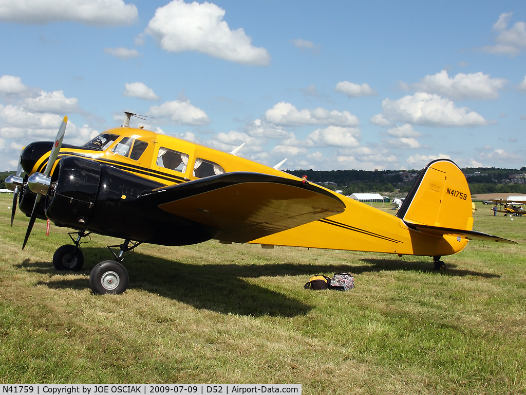 N41759, 1944 Cessna UC-78 (T-50) Bobcat C/N 5807, AT Geneseo