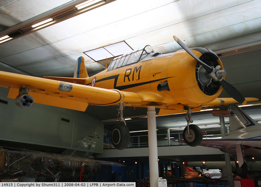 14915, 1951 North American T-6G Texan C/N 182-209, Preserved @ Le Bourget Museum