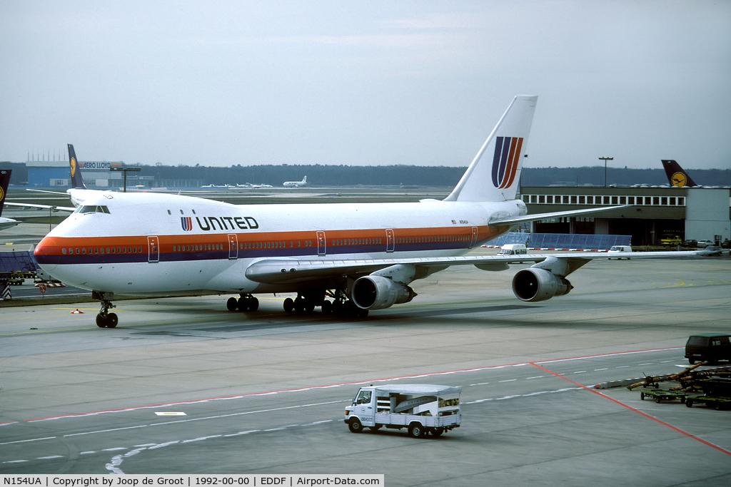 N154UA, 1984 Boeing 747-123 C/N 20103, Frankfurt taxiway.