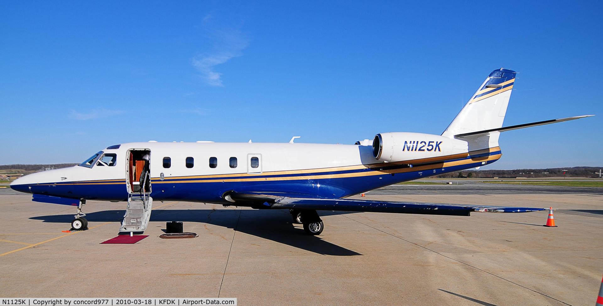 N1125K, 1986 Israel Aircraft Industries 1125 Westwind Astra C/N 035, Seen at KFDK 0n 3/18/2010.