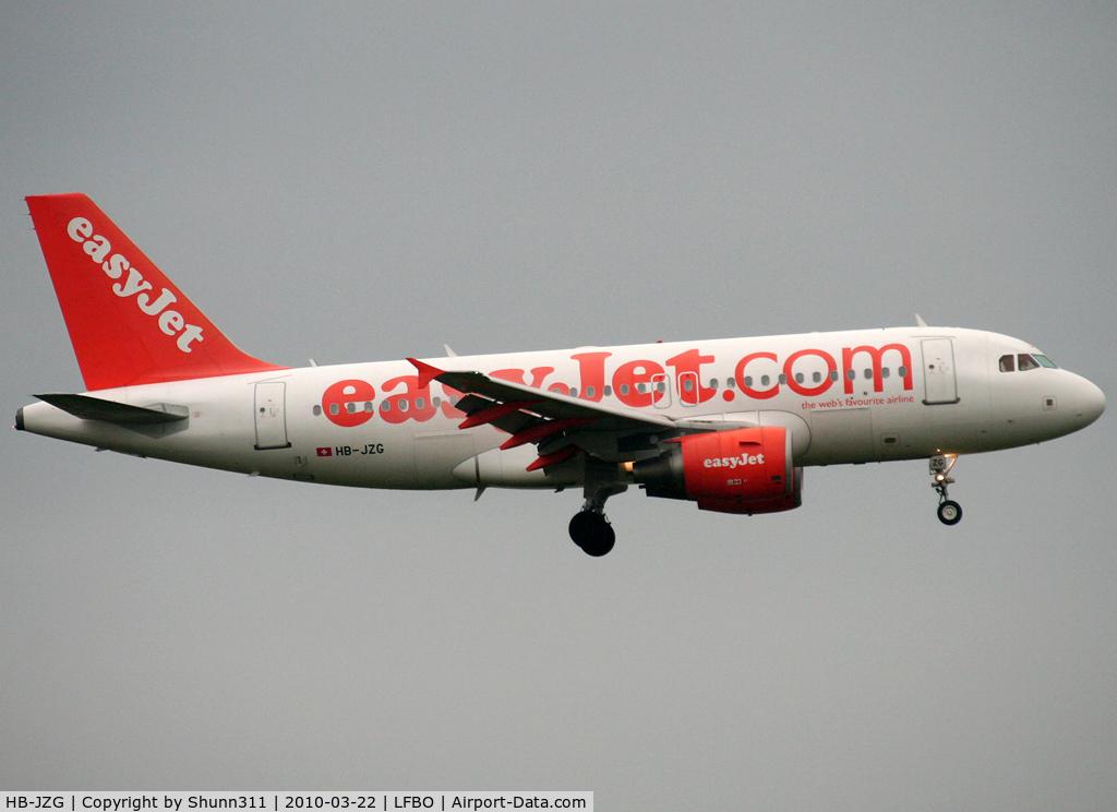 HB-JZG, 2004 Airbus A319-111 C/N 2196, Landing rwy 32L