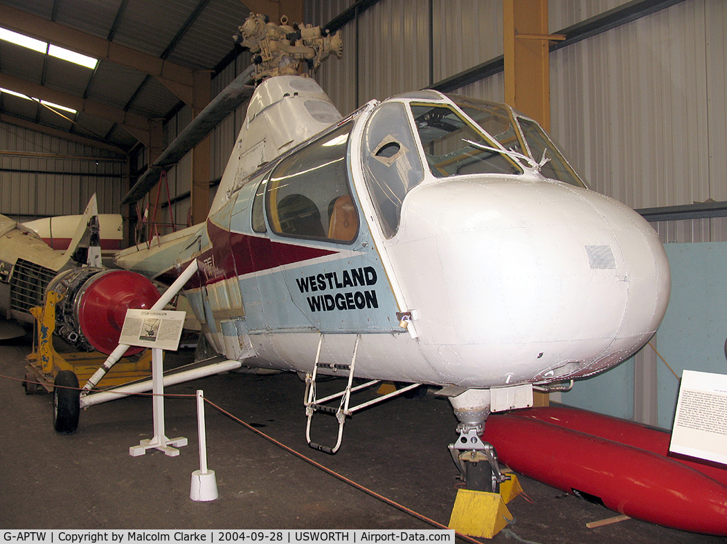 G-APTW, 1959 Westland S51 Series 2 Dragonfly C/N WA/H/150, Westland WS-51A Widgeon 2 at the North East Aircraft Museum, Usworth in 2004.