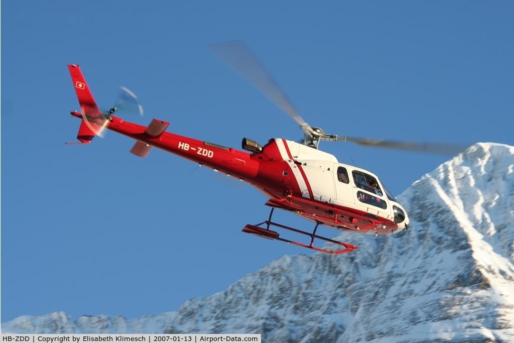 HB-ZDD, 2001 Eurocopter AS-350B-3 Ecureuil C/N 3414, at Lauberhorn
