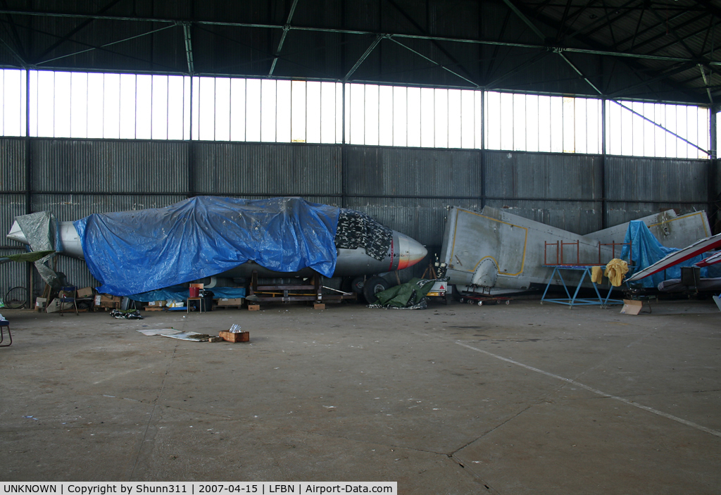 UNKNOWN, Miscellaneous Various C/N unknown, Dismantled into a hangar...