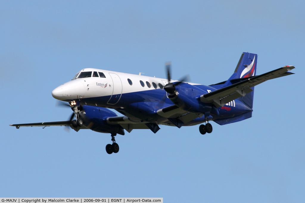 G-MAJV, 1995 British Aerospace Jetstream 41 C/N 41074, British Aerospace Jetstream 41 on finals to 25 at Newcastle Airport in 2006.