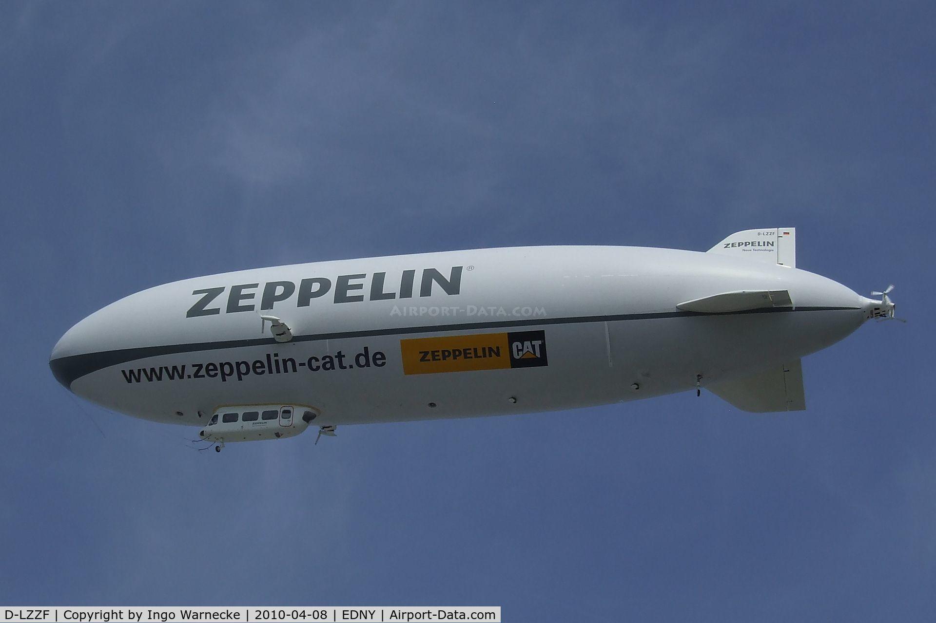 D-LZZF, 1998 Zeppelin LZ-N07 C/N 3, Zeppelin NT LZ-N07 at the AERO 2010, Friedrichshafen