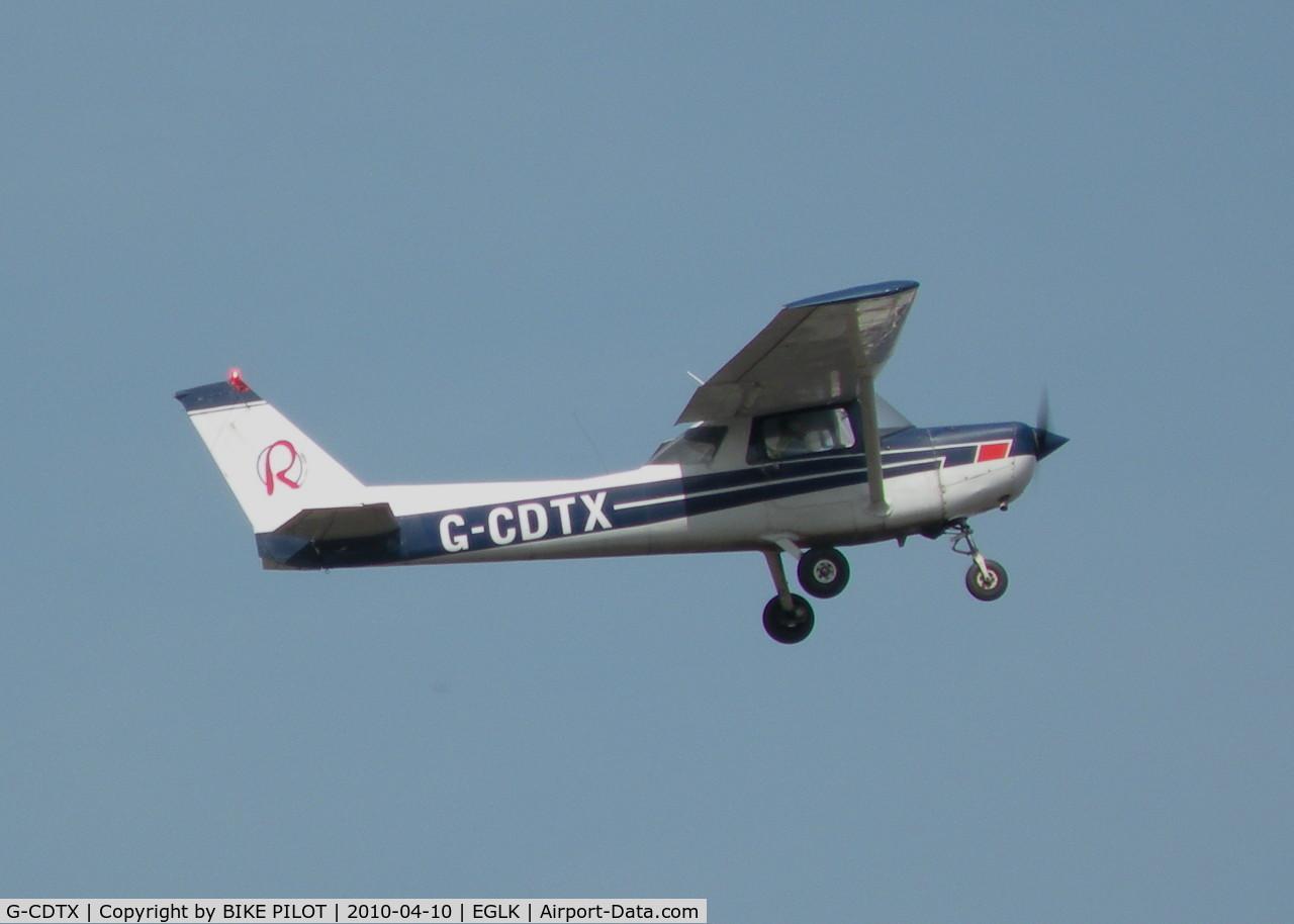G-CDTX, 1979 Reims F152 C/N 1662, REDAIR TRAINER CLIMB OUT FROM RWY 07