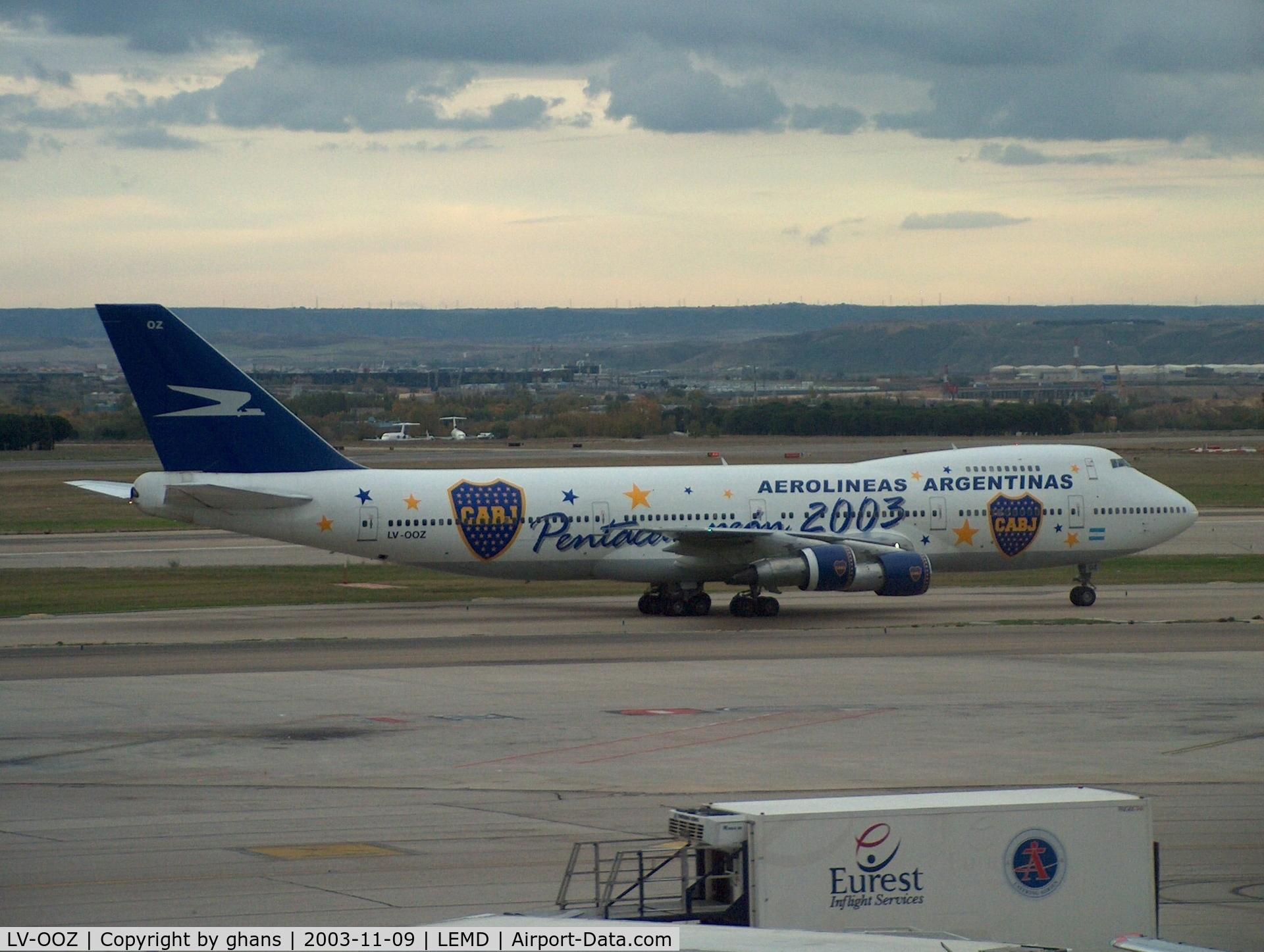 LV-OOZ, Boeing 747-287B C/N 22592, 2003 Pentacampeon