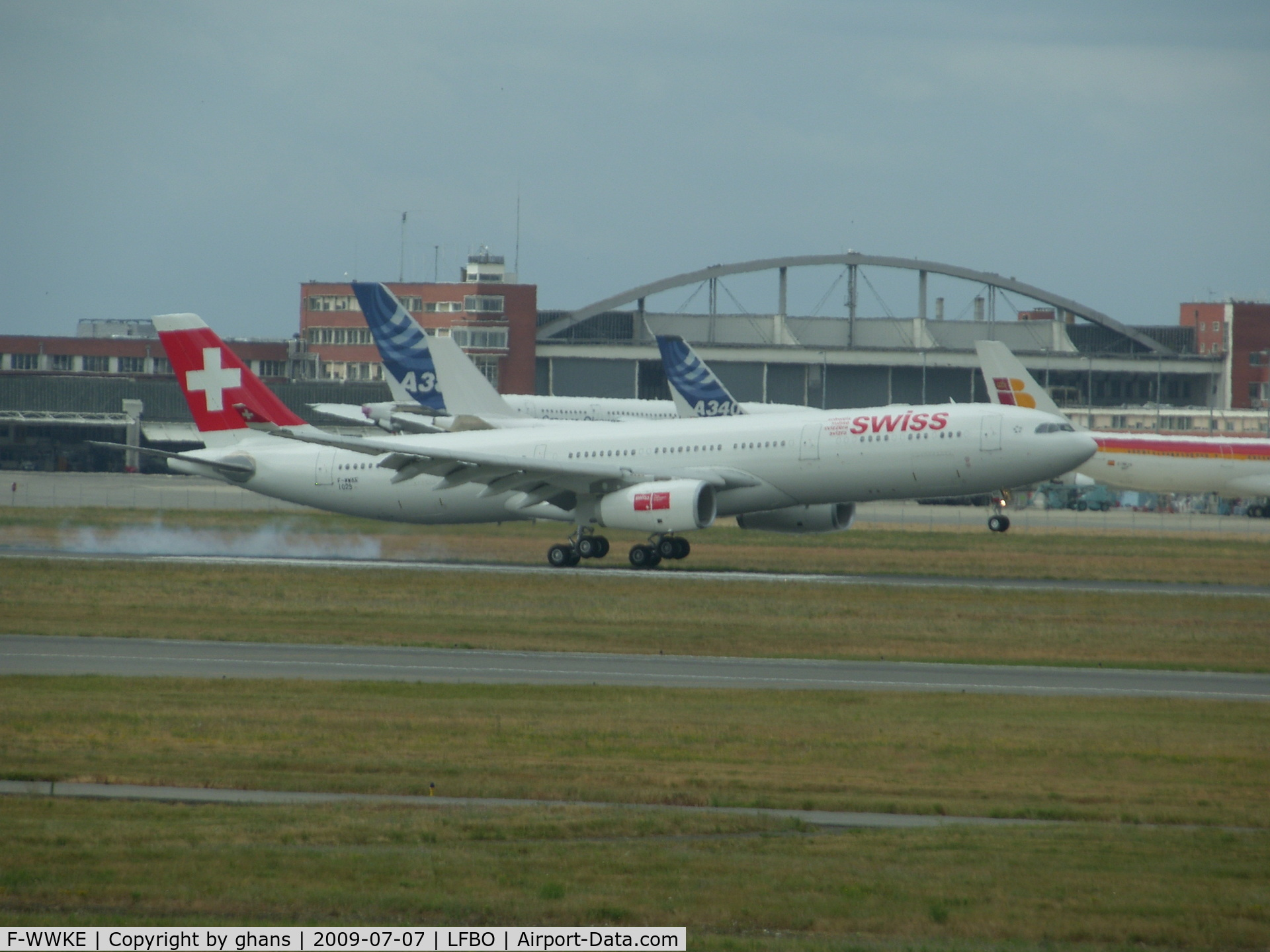 F-WWKE, 2009 Airbus A330-243X C/N 1029, Just landed after a testflight
