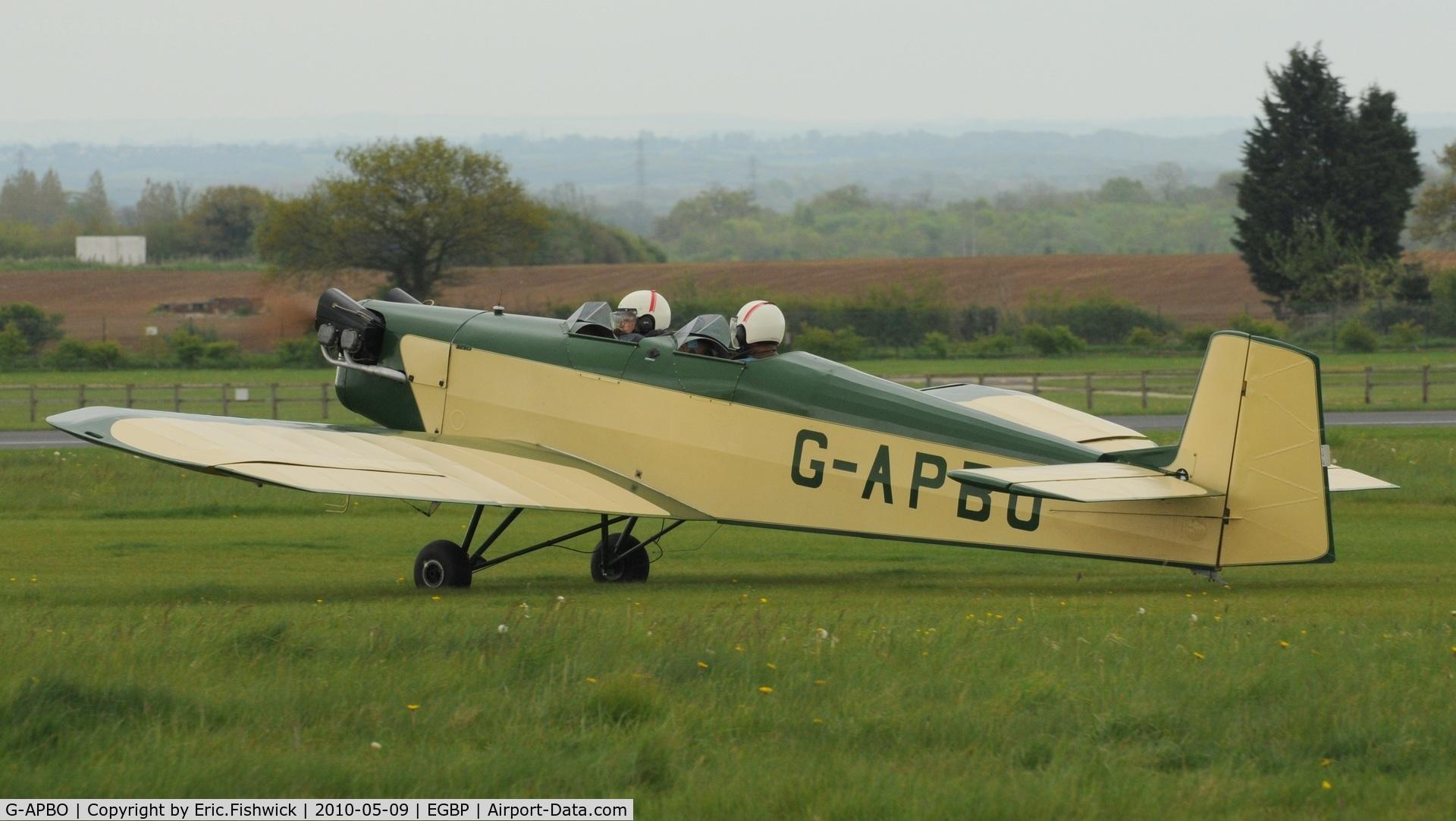 G-APBO, 1960 Druine D-5 Turbi C/N PFA 229, 1. G-APBO Unique Turbi at Kemble Airport (Great Vintage Flying Weekend)